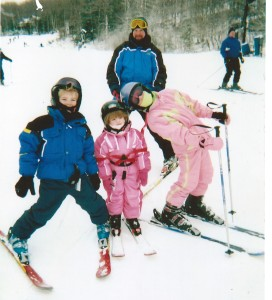 Skiing with my kids!