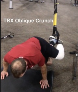 TRX oblique crunch